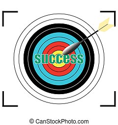 success word Vector, business concept.