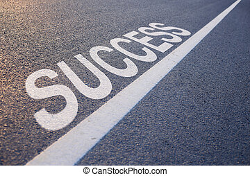 Success Word With Line