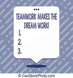 success., work., texte, projection, camaraderie, signe, ...