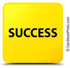 Success yellow square button