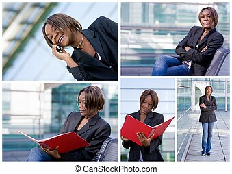 Successful african american business woman
