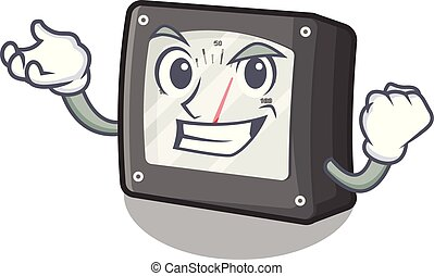 Successful ampere meter in the cartoon shape vector illustration