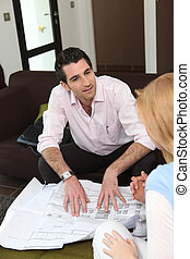 successful architect with female client