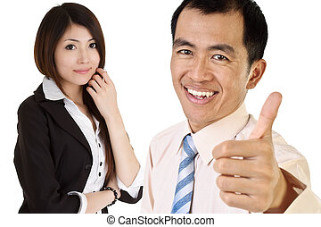 Successful Asian executive