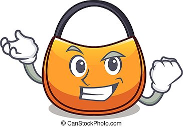Successful beautifully hobo bag on character funny vector...