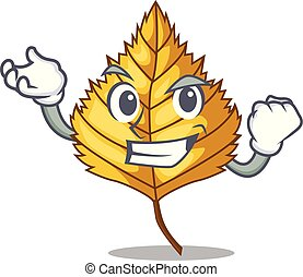 Successful birch leaf isolated in the character vector...
