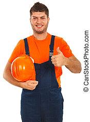Successful builder worker