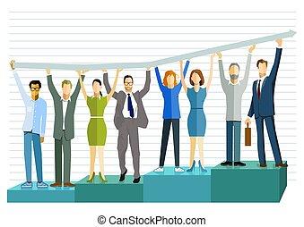 Successful business balance sheet