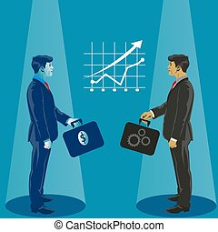Successful business deal. Business concept vector illustration