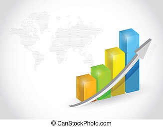 successful business graph illustration design