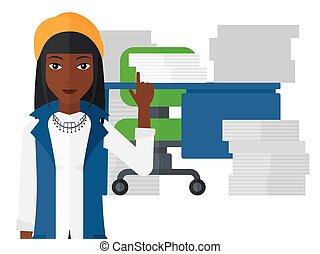 Successful business idea. - An african-american woman...