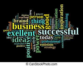 Successful business illustration concept