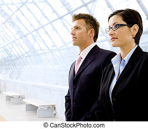 Successful business people - Successful young business...