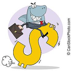 Successful Business Shark