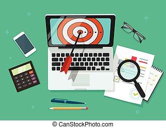 Successful Business target achievement vector illustration,...