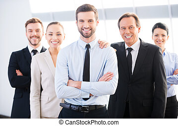 Successful business team. Group of confident business people...