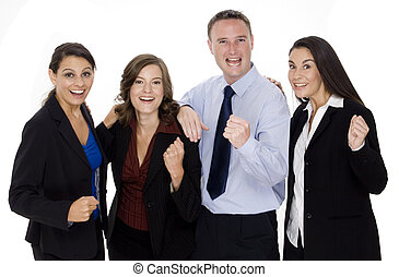 Successful Business Team - A young group of business people...