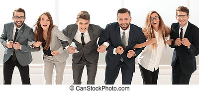 successful business team standing together