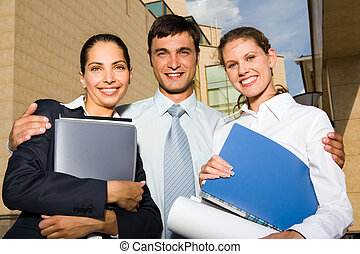 Successful business team - Portrait of young successful...