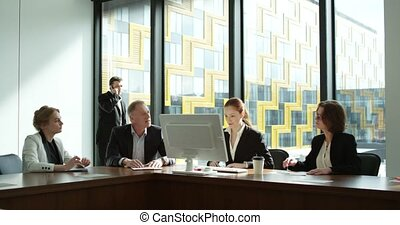 Successful business team - Successful happy business team...