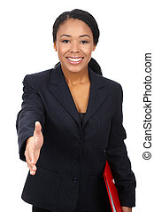 business woman - Successful business woman. Isolated over ...