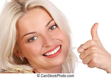 Successful business woman. - Happy successful businesswoman....