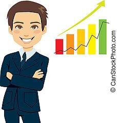 Successful Businessman - Successful businessman standing...