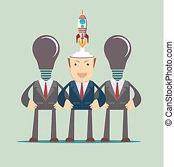 Business idea start up concept.