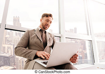 Successful businessman working in the office