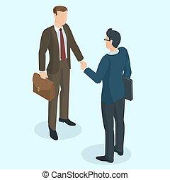 Successful businessmen handshaking