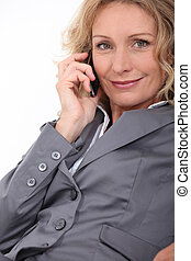 Successful businesswoman on phone