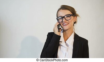 Successful Businesswoman Talking on Phone