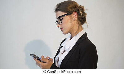 Successful Businesswoman Texting on Phone