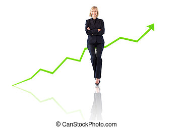 Successful businesswoman with the arms crossed with a...