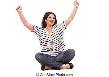 Successful casual woman