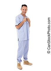 Successful Caucasian man doctor, surgeon