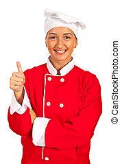 Successful chef woman