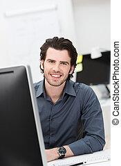 Successful confident businessman
