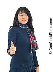 Successful confident woman