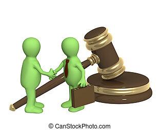 Successful decision of a legal problem - Conceptual image -...