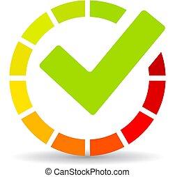 Successful download vector icon