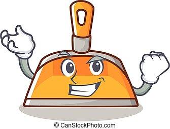 Successful dustpan character cartoon style vector...