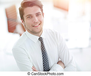 successful employee at a Desk