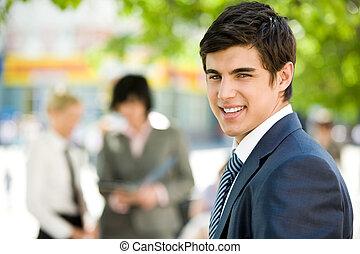 Successful employee - Portrait of confident businessman...