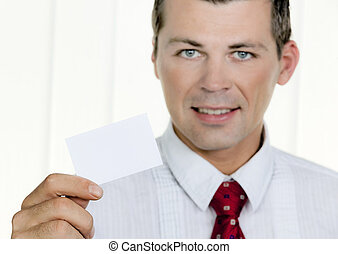 successful entrepreneurs shows blank business card