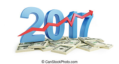 successful growth of profits in the business in 2017 3d...