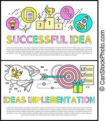 Successful Idea Implementation Vector Illustration