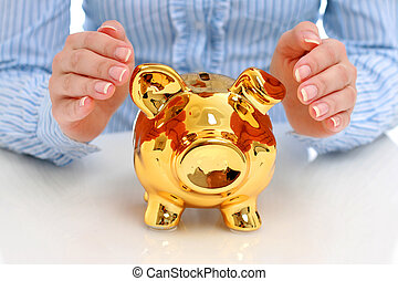 Successful investments concept. Isolated over white background.