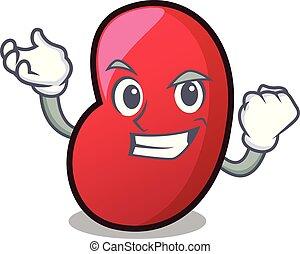 Successful jelly bean character cartoon vector illustration