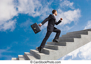 Successful leader - Image of confident businessman with...
